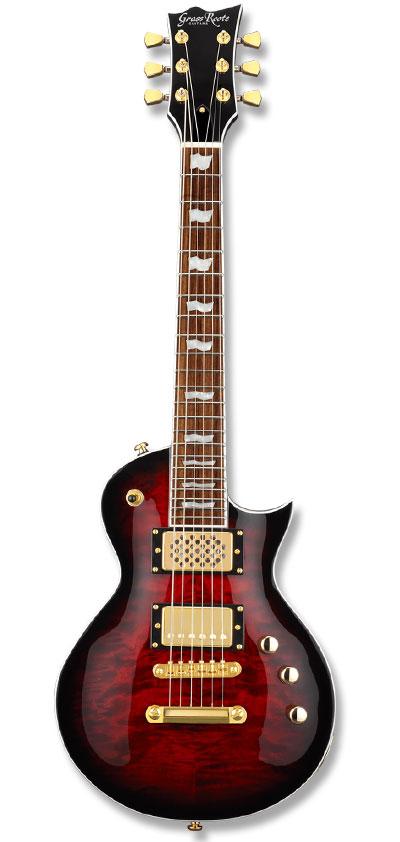<title>ミニギター GrassRoots G-EC-MINI Black Cherry グラスルーツ 大好評です ECタイプ アンプ内臓 エレキギター ブラックチェリー</title>