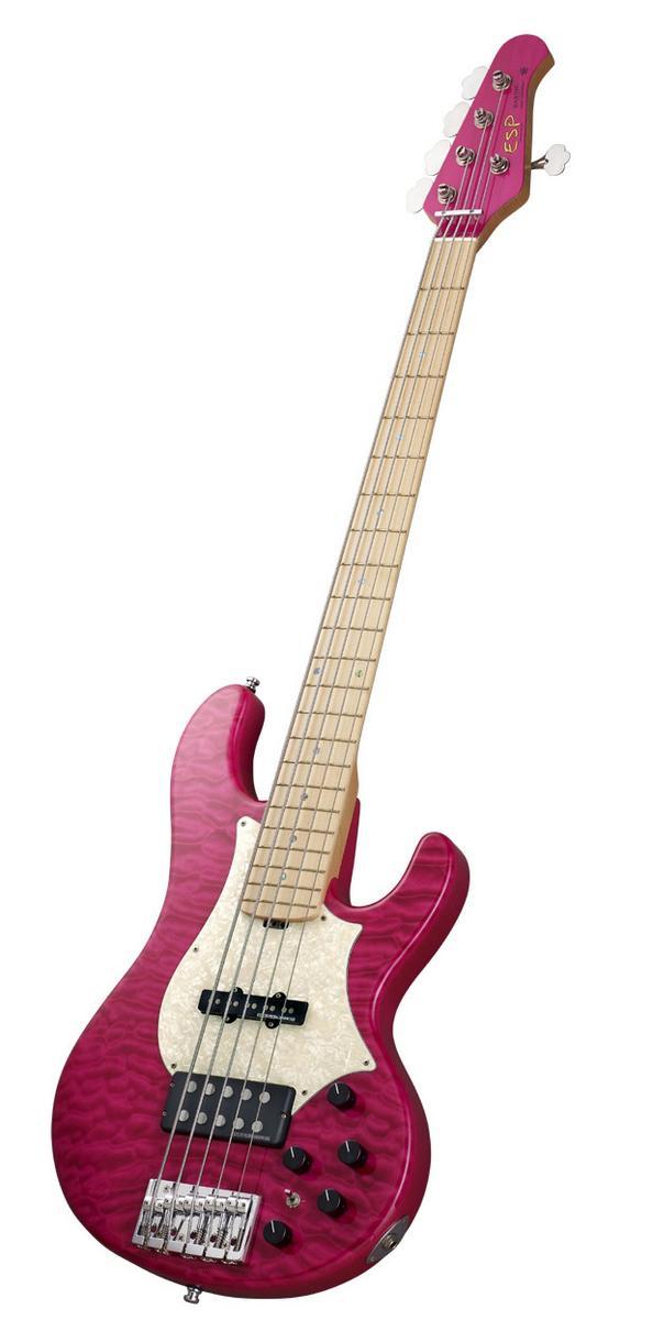 【受注生産】[tetsuyaモデル]ESP Bardic/See Thru Pink