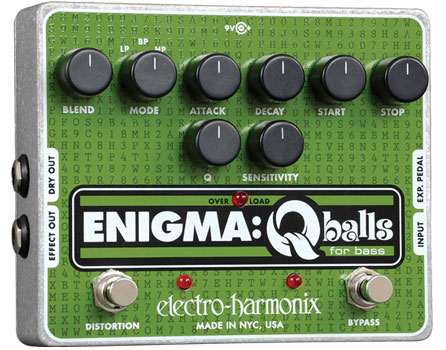electro-harmonix / Enigma: Qballsベース用エンベロープ・フィルター