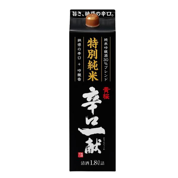 辛口一献 辛口】【パック】【日本酒 送料無料】黄桜 【日本酒 1800mlパック×2ケース(12本)《012》 特別純米