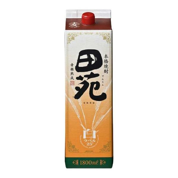 田苑 25度 麦焼酎 1800mlパック×1ケース(6本)【田苑酒造】《006》