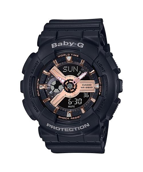 国内正規品 CASIO BABY-G カシオ ベビーG ブラック ローズゴールド レディース腕時計 BA-110RG-1AJF