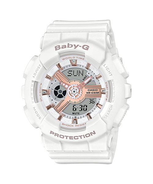 国内正規品 CASIO BABY-G カシオ ベビーG ホワイト ローズゴールド レディース腕時計 BA-110RG-7AJF