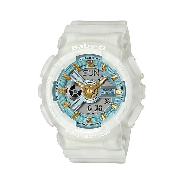 【最大10,000円引き♪お盆限定クーポン配布中】国内正規品 CASIO BABY-G カシオ ベビーG シーグラスカラーズ マットスケルトン ホワイト レディース腕時計 BA-110SC-7AJF