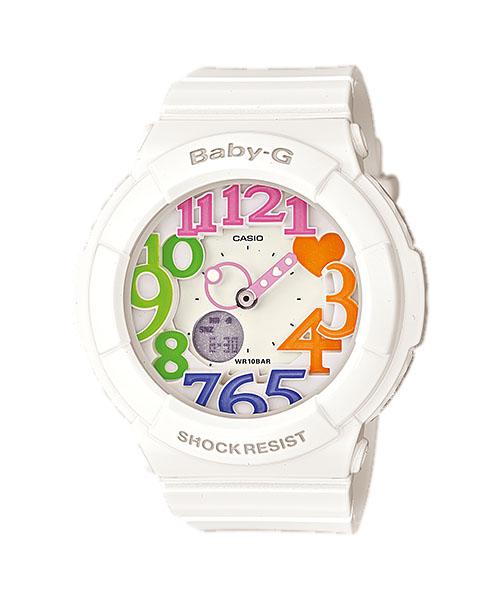 国内正規品 CASIO BABY-G カシオ ベビーG ネオンダイアル ホワイト レディース腕時計 BGA-131-7B3JF
