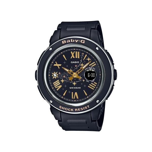 サイズ調整無料 国内正規品 CASIO BABY-G カシオ ベビーG Star スワロフスキー ブラック Dial 星 秀逸 Series レディース腕時計 NEW ARRIVAL BGA-150ST-1AJF