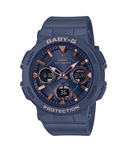 国内正規品 CASIO BABY-G カシオ ベビーG アースカラー×ピンクゴールド タフソーラー レディース腕時計 BGA-2510-2AJF