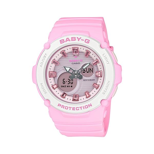 国内正規品 CASIO BABY-G カシオ ベビーG 樹脂バンド 10気圧防水 レディース腕時計 BGA-270-4AJF