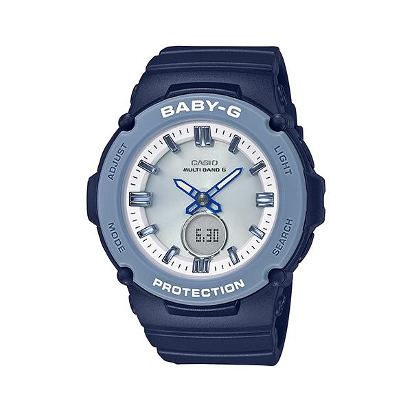 国内正規品 CASIO BABY-G カシオ ベビーG 電波時計 タフソーラー ネイビー レディース腕時計 BGA-2700-2AJF