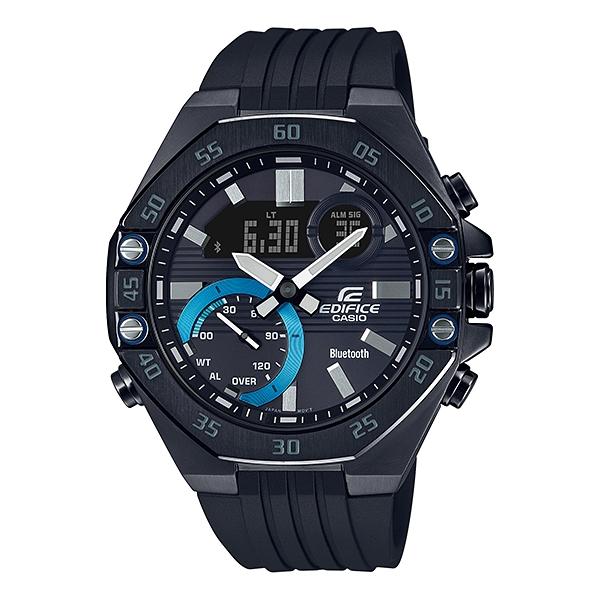 国内正規品 CASIO EDIFICE カシオ エディフィス 樹脂バンド 10気圧防水 モバイルリンク メンズ腕時計 ECB-10YPB-1AJF