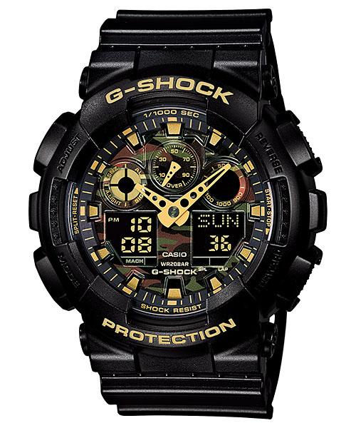 【最大10,000円引き♪お盆限定クーポン配布中】国内正規品 CASIO G-SHOCK カシオ Gショック 文字板カモフラージュ メンズ腕時計 GA-100CF-1A9JF