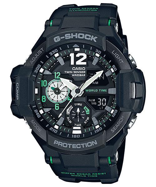 国内正規品 CASIO G-SHOCK カシオ Gショック SKY COCKPIT スカイコックピット メンズ腕時計 GA-1100-1A3JF