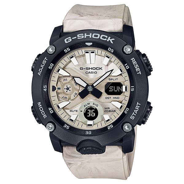 サイズ調整無料 2020秋冬新作 国内正規品 CASIO G-SHOCK カシオ メーカー公式ショップ Gショック GA-2000WM-1AJF 地層 混色樹脂 砂地 アースカラー メンズ腕時計