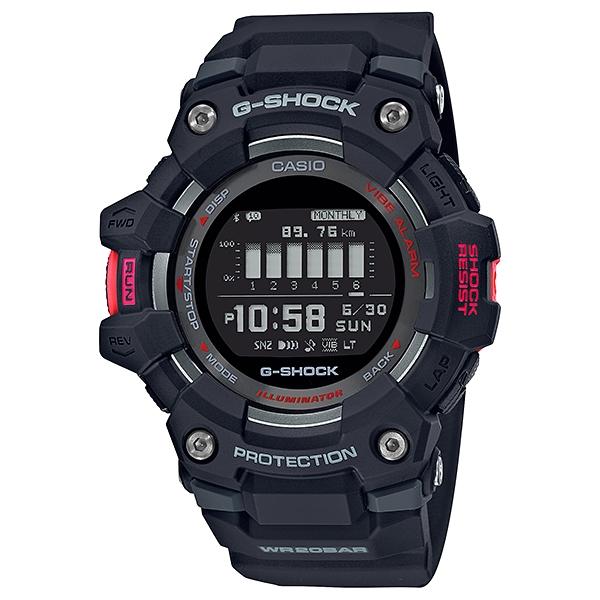 サイズ調整無料 国内正規品 CASIO G-SHOCK カシオ Gショック モバイルリンク 樹脂バンド 本物 GBD-100-1JF 2020春夏新作 メンズ腕時計 G-SQUAD 20気圧防水
