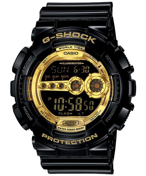 国内正規品 CASIO G-SHOCK カシオ Gショック メンズ腕時計 20気圧防水 GD-100GB-1JF