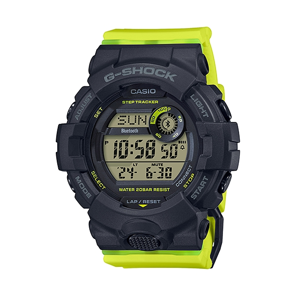 国内正規品 CASIO G-SHOCK カシオ Gショック 樹脂バンド 20気圧防水 モバイルリンク ユニセックス メンズ腕時計 GMD-B800SC-1BJF