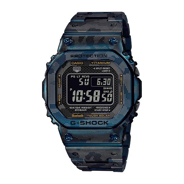 サイズ調整無料 人気の定番 国内正規品 CASIO G-SHOCK カシオ Gショック カモフラージュ柄 注目ブランド GMW-B5000TCF-2JR フルメタルスクエア メンズ腕時計 ブルー