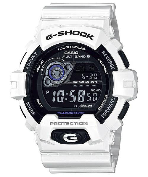 サイズ調整無料 国内正規品 CASIO 激安通販ショッピング G-SHOCK カシオ 電波ソーラー ホワイト GW-8900A-7JF メンズ腕時計 Gショック 待望