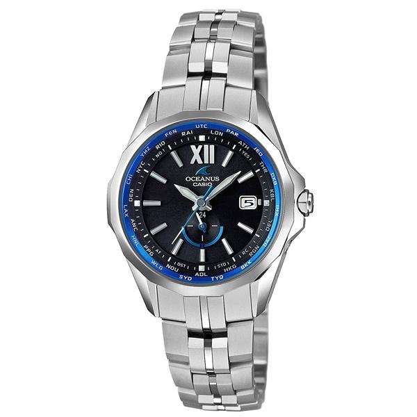 国内正規品 CASIO OCEANUS カシオ オシアナス 電波時計 タフソーラー マンタ レディース腕時計 OCW-S340-1AJF
