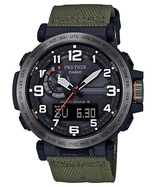 国内正規品 CASIO PRO TREK カシオ プロトレック トリプルセンサー クロスバンド 電波ソーラー メンズ腕時計 PRW-6600YB-3JF