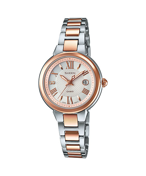 【最大10,000円引き♪お盆限定クーポン配布中】国内正規品 CASIO SHEEN カシオ シーン スワロフスキークリスタル使用 レディース腕時計 SHE-4516SBZ-9AJF