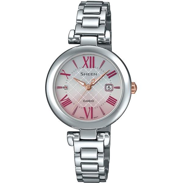 国内正規品 CASIO SHEEN カシオ シーン ソーラー サファイアガラス レディース腕時計 SHS-4502D-4AJF