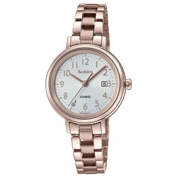 国内正規品 CASIO SHEEN カシオ シーン ソーラー充電 スワロフスキー レディース腕時計 SHS-D100CG-7AJF