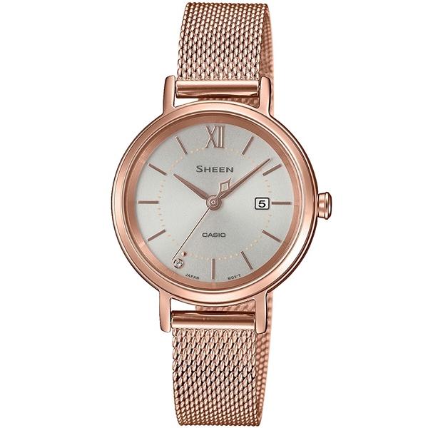 2021高い素材  国内正規品 CASIO SHEEN カシオ シーン メッシュメタルバンド ソーラー充電 レディース腕時計 SHS-D300PGM-4AJF, また壱陶房 563ad351