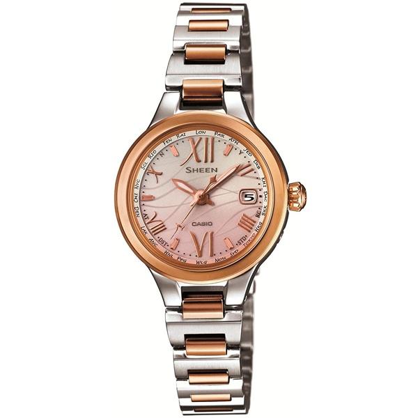 国内正規品 CASIO SHEEN カシオ シーン 電波ソーラー レディース腕時計 SHW-1700SG-4AJF