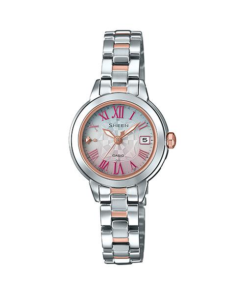 国内正規品 CASIO SHEEN カシオ シーン 電波ソーラー 10気圧防水 レディース腕時計 SHW-5000DSG-4AJF