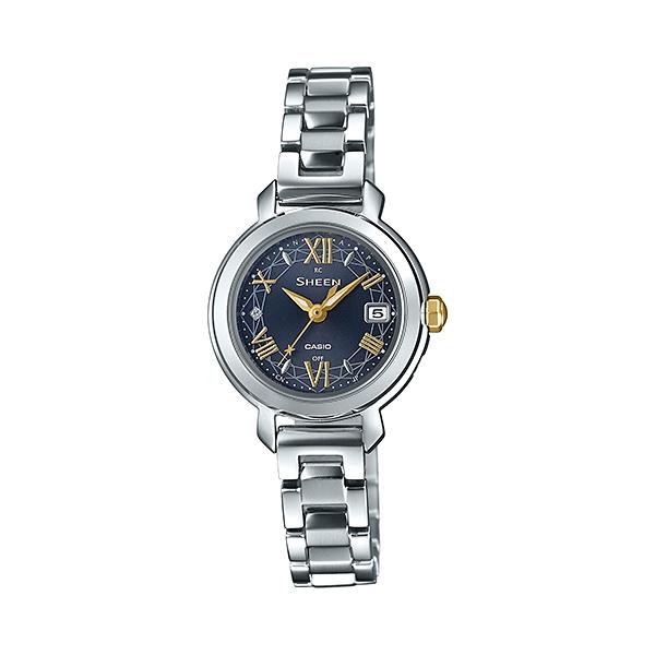 国内正規品 CASIO SHEEN カシオ シーン 電波時計 メタルバンド 10気圧防水 タフソーラー レディース腕時計 SHW-5300D-2AJF