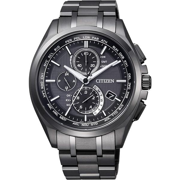 CITIZEN ATTESA シチズン アテッサ エコドライブ 電波時計 ダイレクトフライト メンズ腕時計 AT8044-56E
