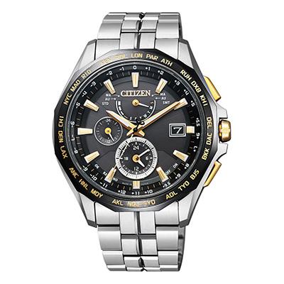 CITIZEN ATTESA シチズン アテッサ ワールドタイム電波時計 ダブルダイレクトフライト メンズ腕時計 AT9095-50E
