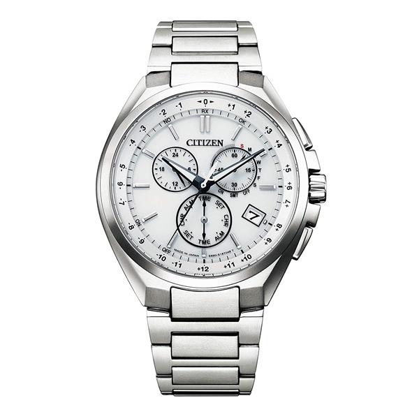 CITIZEN ATTESA シチズン アテッサ 電波時計 ダイレクトフライト スーパーチタニウム クロノグラフ メンズ腕時計 CB5040-80A