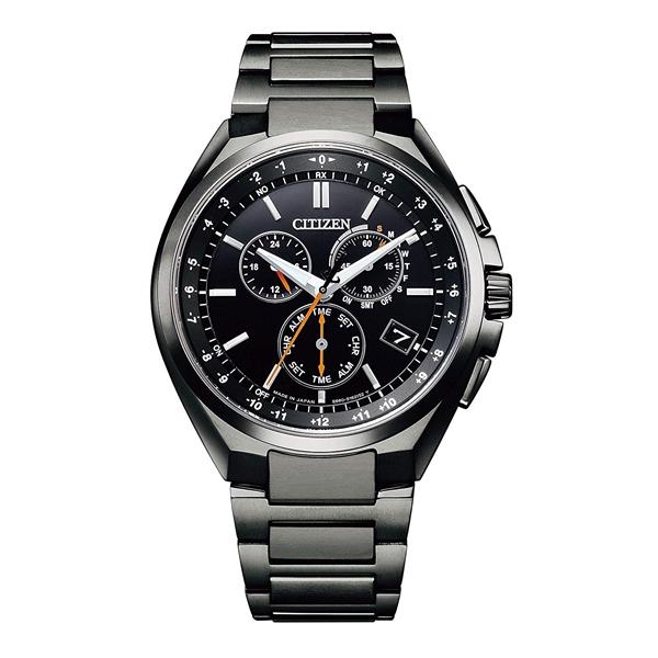 CITIZEN ATTESA シチズン アテッサ 電波時計 ダイレクトフライト スーパーチタニウム クロノグラフ メンズ腕時計 CB5045-60E