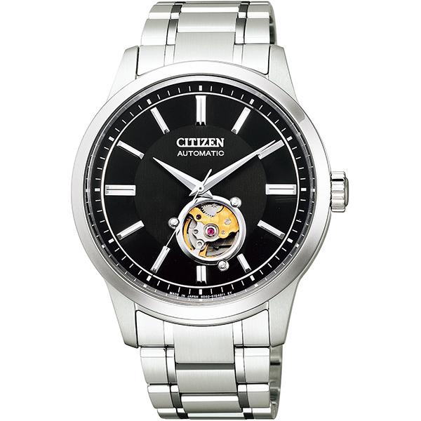CITIZEN COLLECTION シチズンコレクション 機械式 自動巻手巻付 シースルーバック メンズ腕時計 NB4020-96E