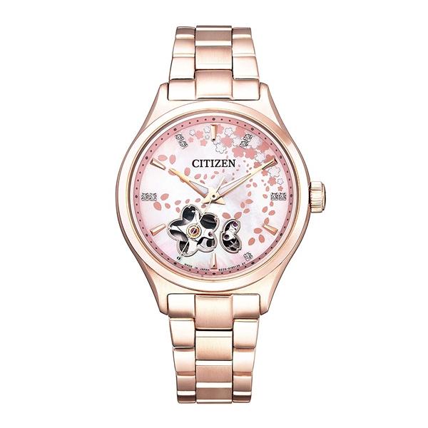 【サイズ調整無料】 CITIZEN COLLECTION シチズンコレクション 限定モデル 2000本 替えバンド付 専用BOX 桜 レディース腕時計 PC1004-63W
