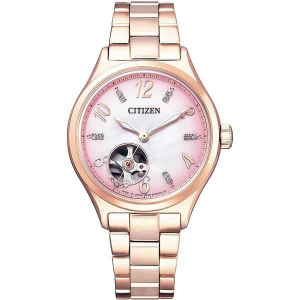 CITIZEN COLLECTION シチズンコレクション オートマティック シースルーバック スワロフスキー レディース腕時計 PC1005-87X