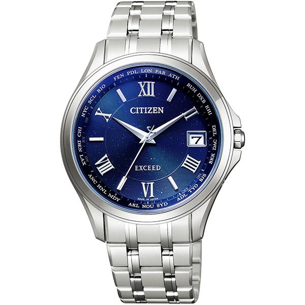CITIZEN EXCEED シチズン エクシード ワールドタイム電波時計 ダイレクトフライト ペア限定モデル メンズ腕時計 CB1080-52L