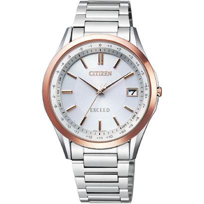 CITIZEN EXCEED シチズン エクシード ワールドタイム電波時計 メンズ腕時計 CB1114-52A