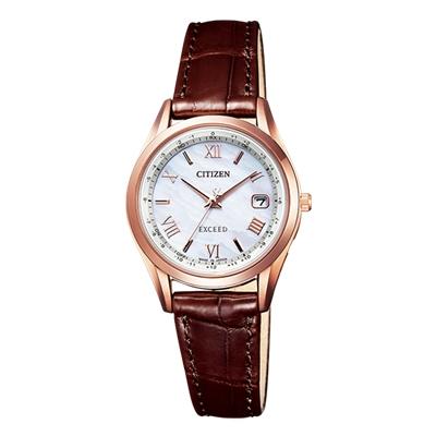 CITIZEN EXCEED シチズン エクシード エコドライブ 電波時計 ペアモデル レディース腕時計 ES9372-08W