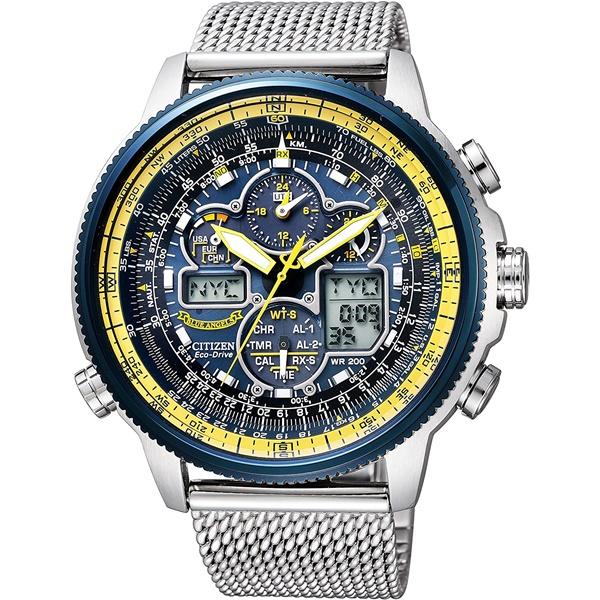 CITIZEN PRO MASTER シチズン プロマスター ブルーエンジェルス クロノグラフ 航空計算尺 スカイ メンズ腕時計 JY8031-56L