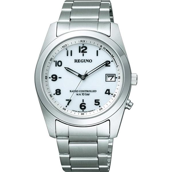 サイズ調整無料 CITIZEN REGUNO シチズン レグノ お得クーポン発行中 RS25-0482H メンズ腕時計 ホワイト ふるさと割 ソーラーテック 電波時計