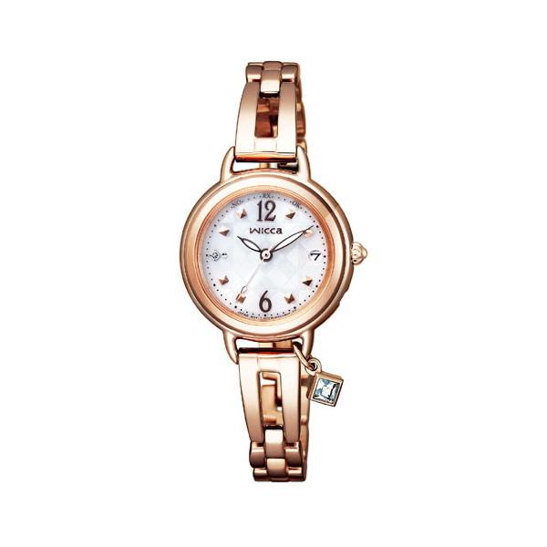 CITIZEN wicca シチズン ウィッカ ブレスライン ソーラーテック 電波時計 レディース腕時計 KL0-961-11