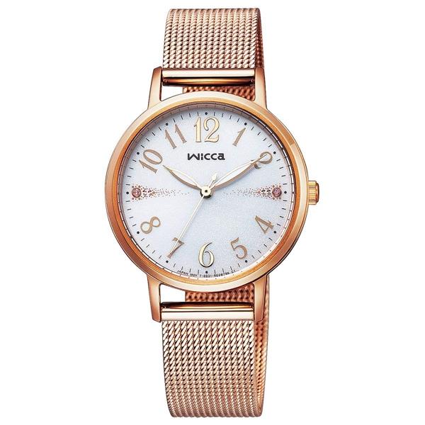 CITIZEN WICCA シチズン ウィッカ ソーラーテック メッシュバンド レディース腕時計 KP5-166-13