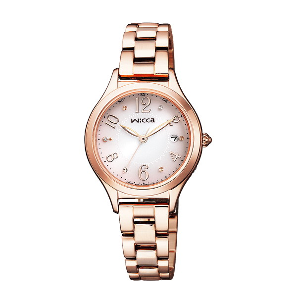 CITIZEN wicca シチズン ウィッカ ソーラーテック 電波時計 レディース腕時計 KS1-261-91