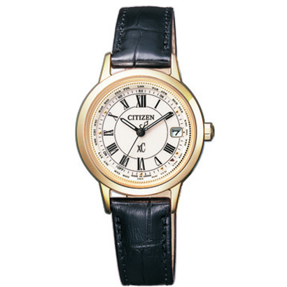 CITIZEN XC シチズン クロスシー ティタニアライン ワールドタイム電波時計 レディース腕時計 EC1142-05B