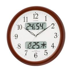 CITIZEN citizen rhythm clock clock radio clock temperature humidity display with name Rena calendar M01 4FYA01-006