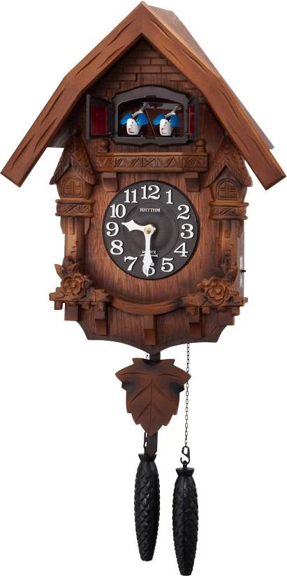 RHYTHM リズム時計 クロック 上質 掛け時計 低廉 鳩時計 カッコーテレスR 4MJ236RH06 カッコークロック