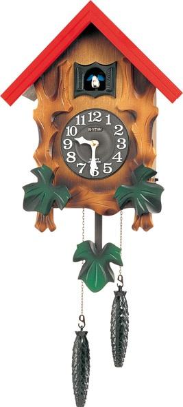 RHYTHM リズム時計 クロック 掛け時計 4MJ775RH06 タイムセール カッコークロック カッコーメルビルR 鳩時計 超歓迎された